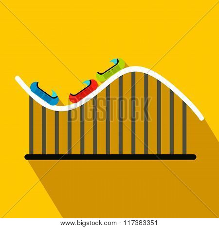 Roller coaster flat icon