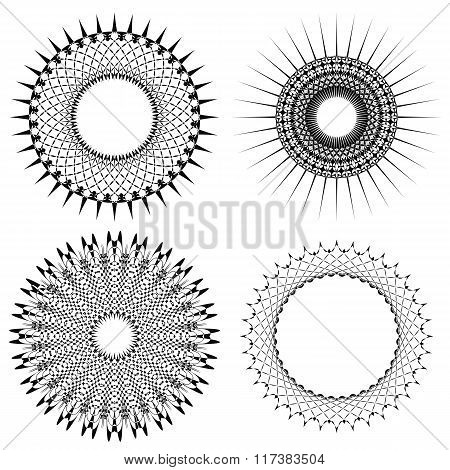 Vector Set of Circle Geometric Ornaments