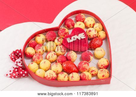 Heart Shaped Box With Candy Balls