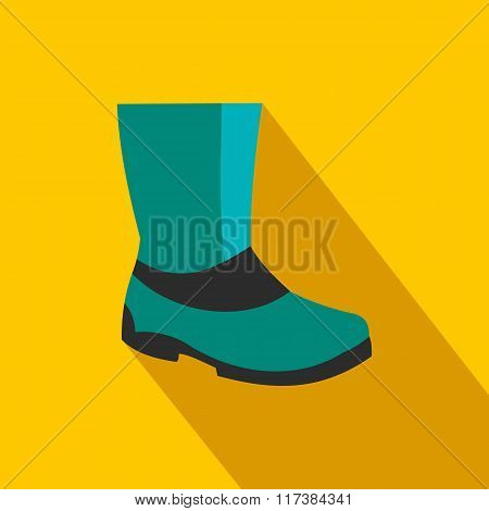 Rubber boots flat icon