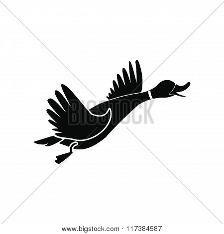 Wild duck black simple icon