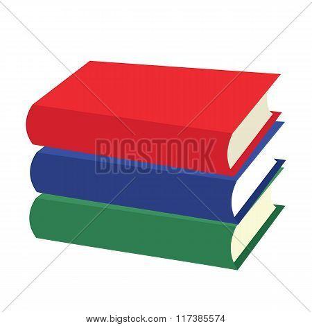 Nice books flat icons