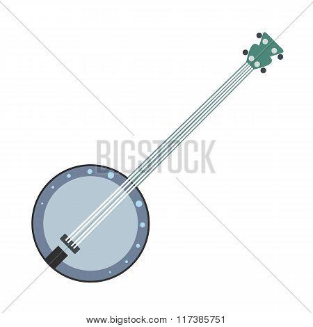 Banjo flat icon