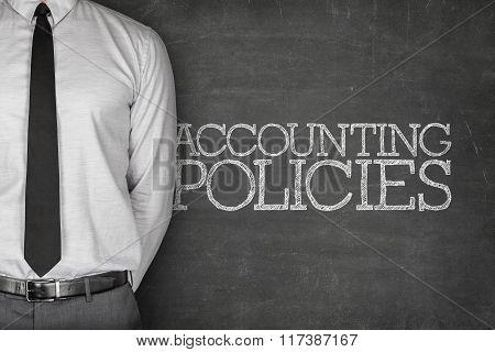 Accounting policies text on blackboard