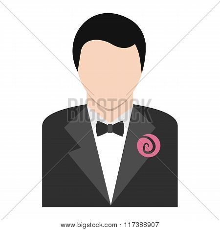 Bridegroom flat icon