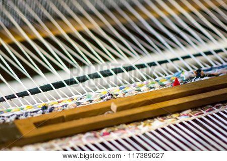 Detail Of Weaving Loom