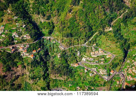 Aerial View Of Small Houses In The Nun's Valley