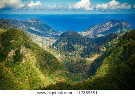 Atlantic Ocean And Hills Of Madeira