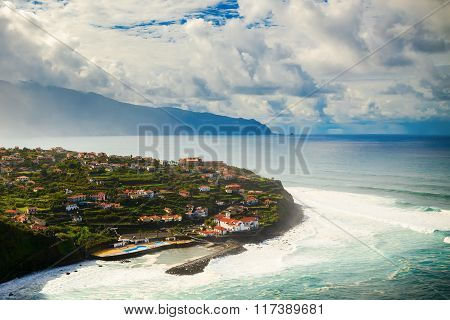 Side View Of The Village Ponta Delgada
