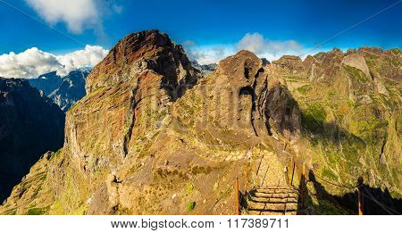 Footpath With Steps On Pico Do Arieiro