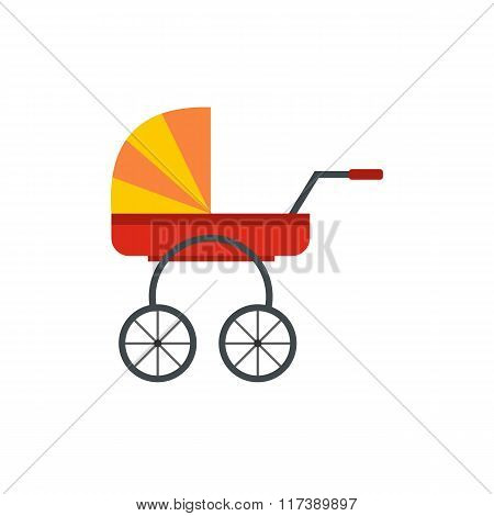 Baby carriage flat icon