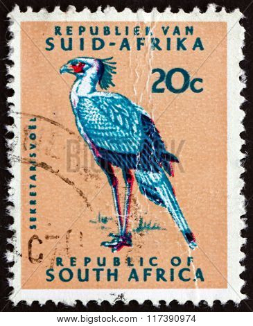 Postage Stamp South Africa 1961 Secretary Bird, Bird Of Prey
