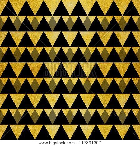 Gold Glitter Black Triangles