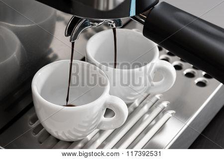 Espresso Machine Brewing