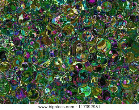 Green Spotted Abstract Background.
