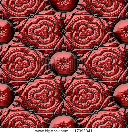 Abstract decorative iron red texture-pattern