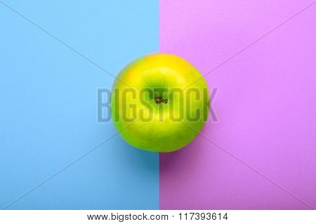 Whole Apple On Colorful Background