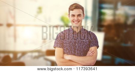 Composite image of handsome man