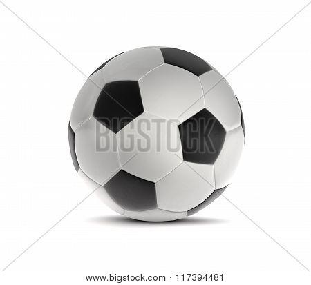 Soccer Ball Black And White 3D