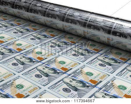 Money Machine Print New Dollars