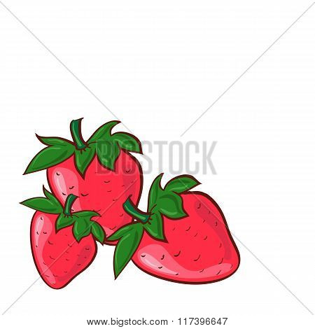 Vector Illustration Of Strawberries  Vector Illustration   Can Be Used For Printed Materials Textile