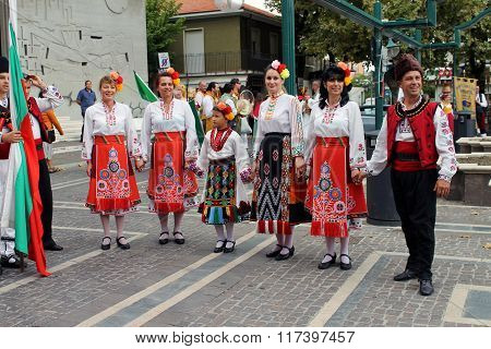 Bulgarian folk dancers