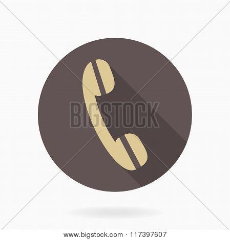 Fine Telephone Receiver Flat Icon