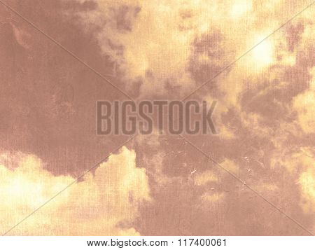 Sky background with clouds grunge