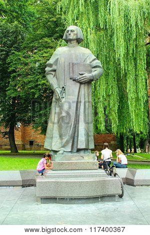 Yuriy Drohobych Monument In Drohobych Town