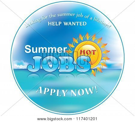 Summer Jobs Label