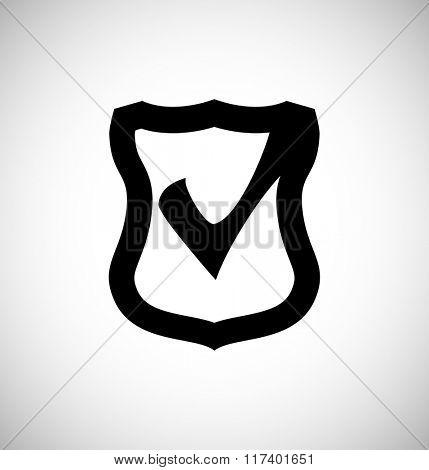 shield with check mark - web icon