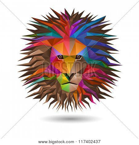 Lion's head, eps10 vector