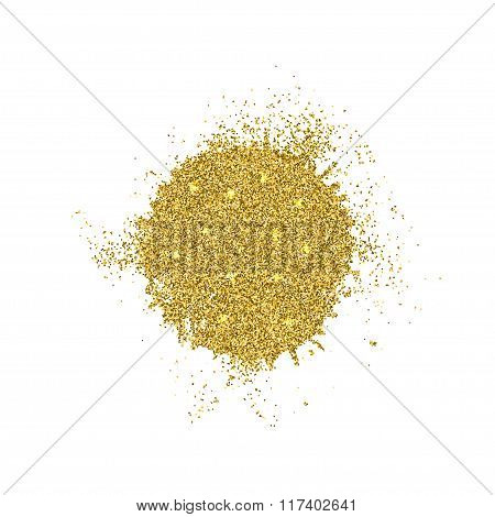 Vector modern gold glitter abstract background