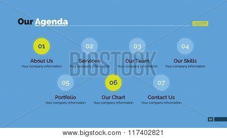 Our agenda slide