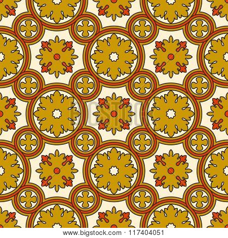 Abstract seamless ornamental vector pattern. Renaissance decorative wallpaper. Vintage background
