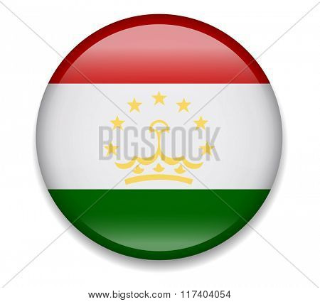 Tajikistan Button Flag