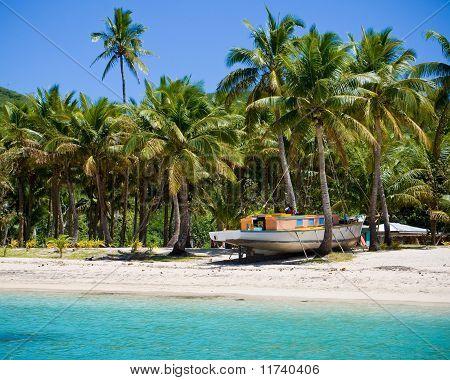 Fijian Boat On Stilts