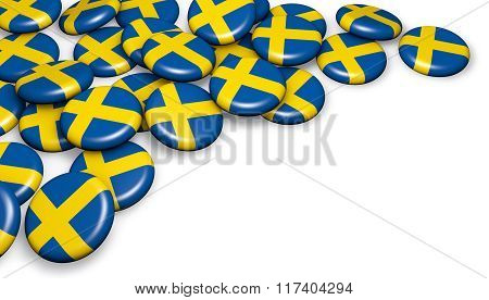 Sweden Flag Button Badges