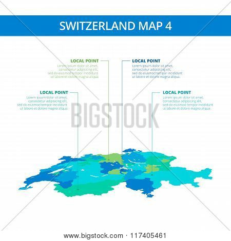 Switzerland map template 4