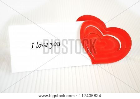 A Love Note And A Red Heart