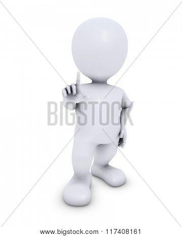 3D Render of Morph Man Presenting
