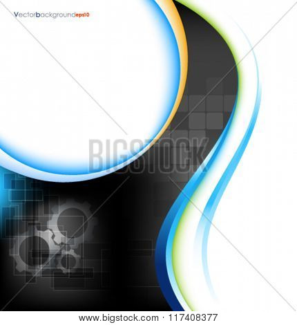 Multicolored vector abstract engineering technology background