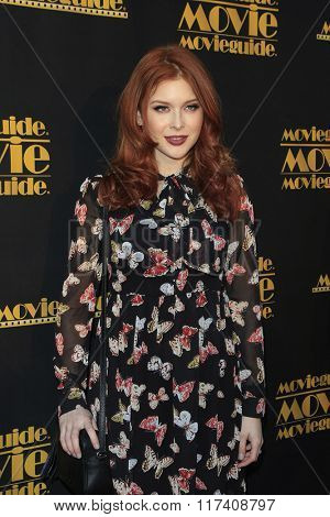 LOS ANGELES - FEB 5: Renee Olstead at the 24th Annual MovieGuide Awards at Universal Hilton Hotel on February 5, 2016 in Universal City, Los Angeles, California