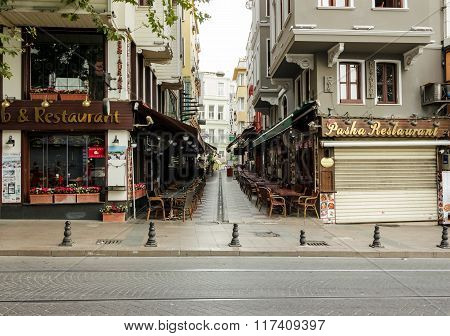 Turkish Restaurants On Divan Yolu Street