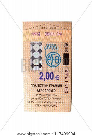 Thessaloniki bus ticket  Greece