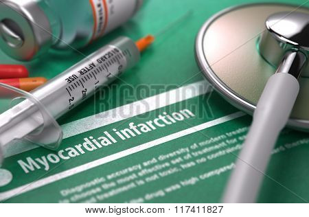 Diagnosis - Myocardial Infarction. Medical Concept.