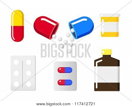 Medical Pill Sign Icon