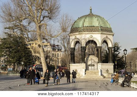 German Fountain At Sultanahmet Square, Istanbul, Turkey