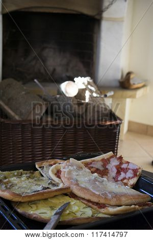 Slices Of Homemade Pizza