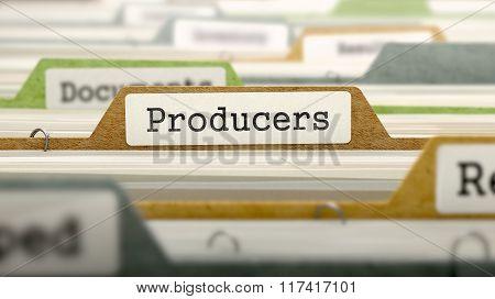 Producers Concept on Folder Register.